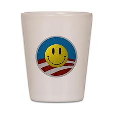 Obama Smiley Logo Shot Glass