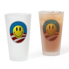 Obama Smiley Logo Drinking Glass