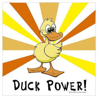 Duck Power Poster