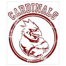 Cardinals team Mascot Gaphic Poster