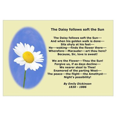 Emily Dickinson Daisy Poetry Canvas Art