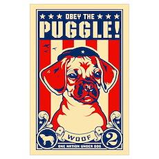 Puggle! USA Large Propaganda Poster