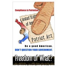 Freedom Political Print (Mini) Poster