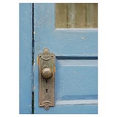 Blue Door Knob Poster