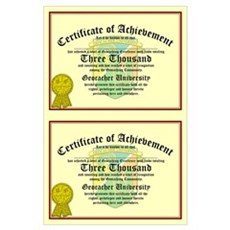 Certificate of Achievement - 3000 (Double Poster