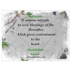 """""""Contentment"""" Heart Poster"""