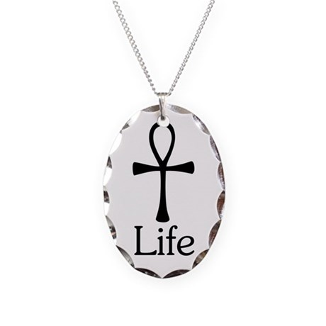 Ankh :: Life Necklace Oval Charm