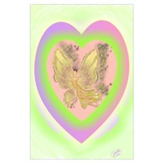 Golden Fairy Ballerina Poster