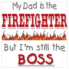 Dad is FIREFIGHTER Framed Print
