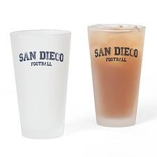 San Diego Football Drinking Glass