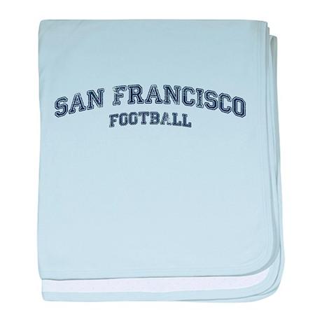 San Francisco Football baby blanket