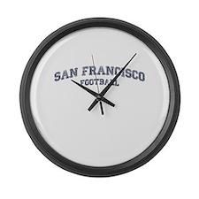 San Francisco Football Large Wall Clock