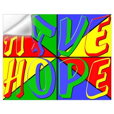 Have Hope (pop art) Wall Decal