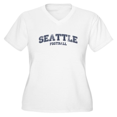 Seattle Football Women's Plus Size V-Neck T-Shirt