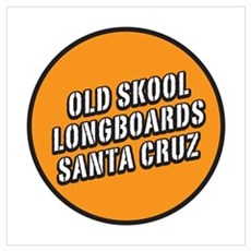 Old Skool Longboards Poster