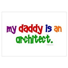 My Daddy Is An Architect Canvas Art