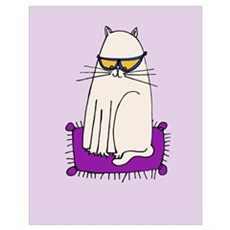 Morrissey the Cool Cat Poster