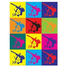 Paintball Pop Art Framed Print