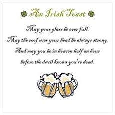Irish Toast Canvas Art