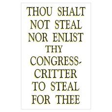 35x23 Thou Shalt Not Steal Poster