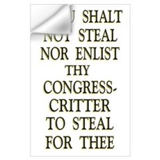 35x23 Thou Shalt Not Steal Wall Decal