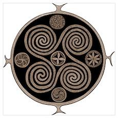 Spiral Norse Design Poster
