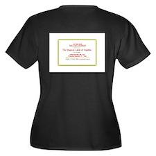 Cool Aladdin lamp Women's Plus Size V-Neck Dark T-Shirt
