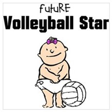 Future Volleyball Girl Star Poster