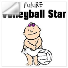Future Volleyball Girl Star Wall Decal