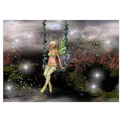 Misty Morning Fairy Poster
