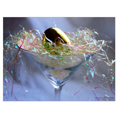 Martini Easter Egg Canvas Art