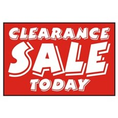 Clearance SALE Today Poster