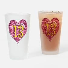 13th Birthday Drinking Glass