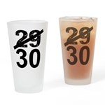 30th Birthday Gifts, 29 to 30 Drinking Glass