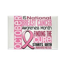 Breast Cancer Awareness Month Rectangle Magnet