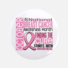 "Breast Cancer Awareness Month 3.5"" Button"