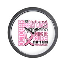 Breast Cancer Awareness Month Wall Clock