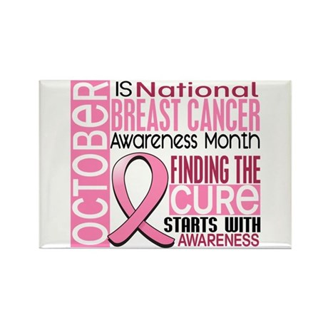 Breast Cancer Awareness Month Rectangle Magnet (10
