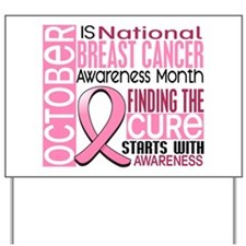 Breast Cancer Awareness Month Yard Sign