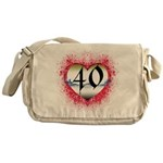 Gothic Heart 40th Messenger Bag