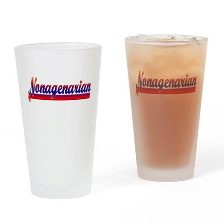 Nonagenarian Drinking Glass