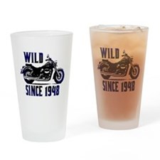 Biker, 60th Gifts Drinking Glass