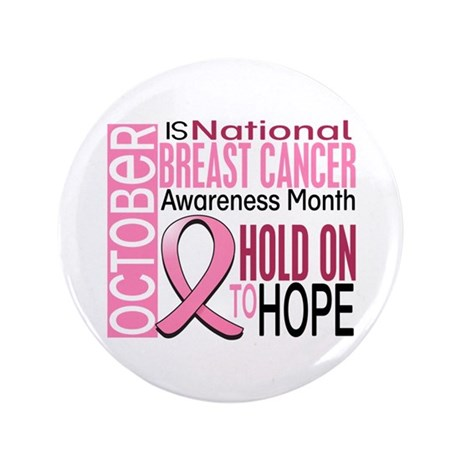 """Breast Cancer Awareness Month 3.5"""" Button (100 pac"""