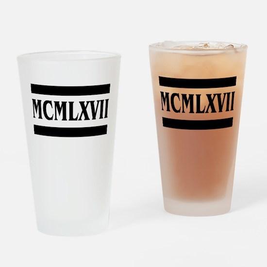 Roman numerals, 1967 Drinking Glass