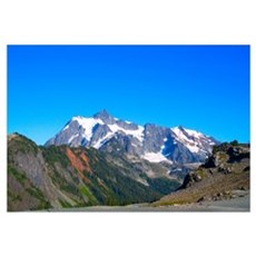 Blue Sky Mt. Shuksan Framed Print