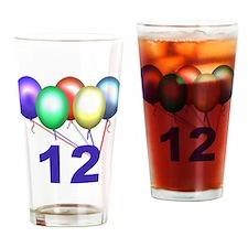 12th Birthday Drinking Glass