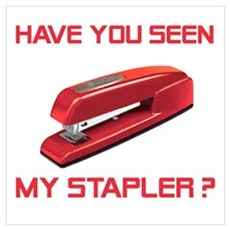 Red Stapler Framed Print