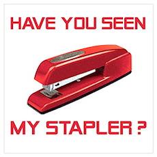 Red Stapler Poster