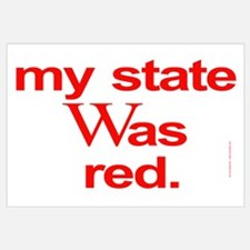 state red Bush Election Voted