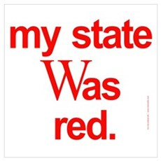 state red Bush Election Voted Framed Print